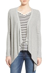Women's Velvet By Graham And Spencer Open Front Knit Cardigan Heather Grey