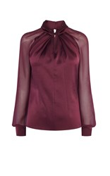 Karen Millen Knot Neck Top Red