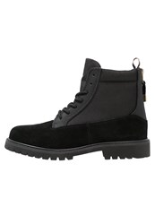 Cayler And Sons Hibachi Laceup Boots Black Stingray Gold
