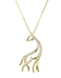 Lord And Taylor 14Kt. Yellow Gold Diamond Horse Pendant Necklace