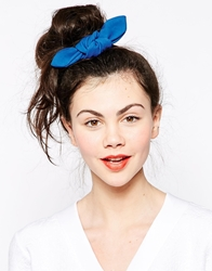 Monki Madde Indigo Hair Tie Back Blue