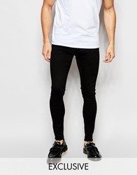 Exclusive To Asos Waven Jeans Extreme Super Skinny Fit Mid Rise Clean Black Cleanblack