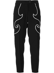 Moschino Cheap And Chic Embroidered Trousers Black