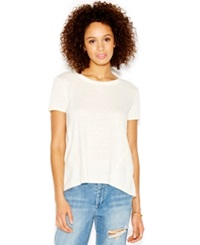 Rachel Rachel Roy Short Sleeve Split Back Blouse Cream