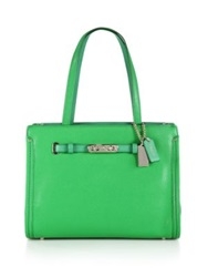 Swagger Small Leather Tote Green Nude Watermelon