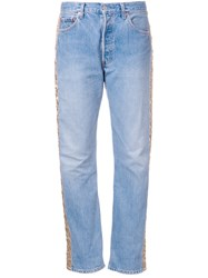 Bless Quilted Panel Jeans Blue