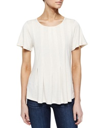 Design History Pleated High Low Tee Soft Oat