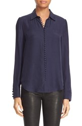 Frame Women's Long Sleeve Silk Blouse