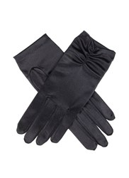 Dents Ladies Satin Ruched Glove Black