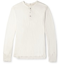 Rag And Bone Cotton Jersey Henley T Shirt Neutrals