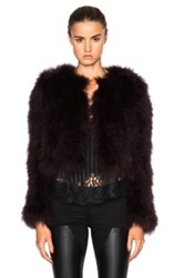 Givenchy Feather Jacket In Purple
