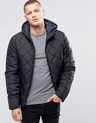 Blend Of America Hooded Quilted Jacket Black Black