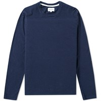 Norse Projects Long Sleeve Niels Stripe Tee Blue