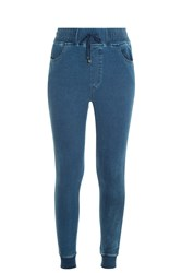 Madegold Indigo Terry Trousers Blue