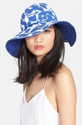 Kate Spade Reversible Floral Print Hat Hyacinth
