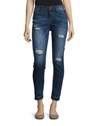 Dittos Gina Distressed Skinny Jeans Blue