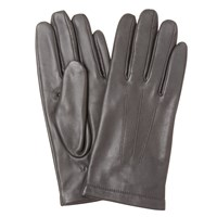 John Lewis Fleece Lined Leather Gloves Taupe