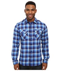 Hurley Dri Fit Rowen Long Sleeve Flannel Loyal Blue Men's Clothing