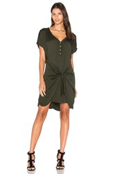 Michael Stars Henley Tie Waist Dress Green