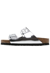 Birkenstock Arizona Slippers Metallic Silver