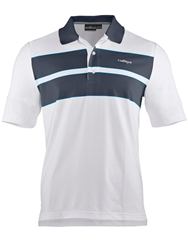 Chervo Ambrogio Stripe Regular Fit Polo Shirt Navy And White