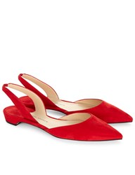 Paul Andrew Red Suede Slingback Rhea Sandals