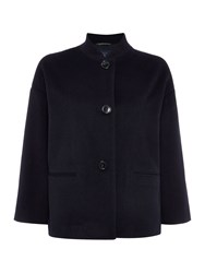 Gant Short Wool Coat Blue