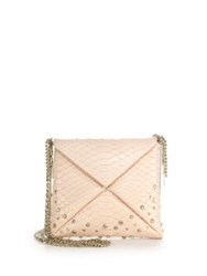 Vbh Crystal Embellished Python Crossbody Bag