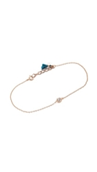 Shashi Solitaire Bracelet Rose Gold Clear