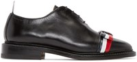 Thom Browne Black And Tricolor Leather Bow Derbys