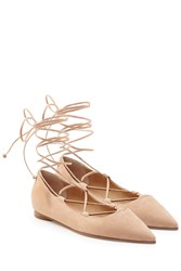 Michael Kors Collection Suede Ballerinas Rose