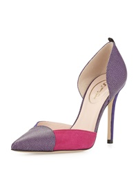 Greer Colorblock D'orsay Pump Bordeaux Multi Sjp By Sarah Jessica Parker