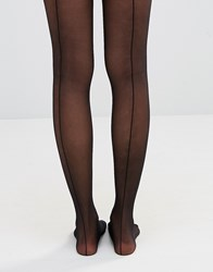 Wolford Back Seam Tights Black