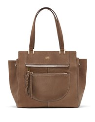 Vince Camuto Ayla Leather Tote Dark Beige