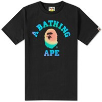 A Bathing Ape Rainbow College Tee Black
