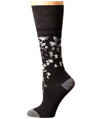 Smartwool Everlasting Eden Mid Calf Black Women's Crew Cut Socks Shoes