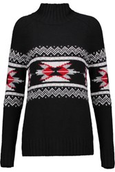Autumn Cashmere Fair Isle Kniited Sweater Black