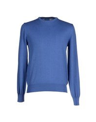 Heritage Knitwear Jumpers Men Pastel Blue
