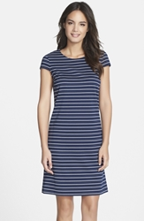 Marc New York Stripe Ponte A Line Dress Navy