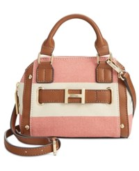 Tommy Hilfiger H Belted Rugby Mini Dome Crossbody Coral Natural