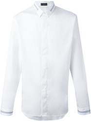 Christian Dior Homme Striped Detailing Shirt White