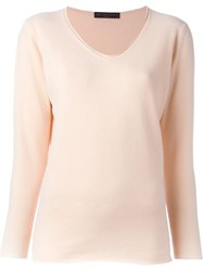 Fabiana Filippi V Neck Sweater Pink And Purple