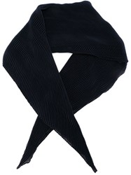 Agnona Pleated Scarf Blue