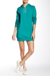 American Apparel California Fleece Pullover Hoodie Dress Green