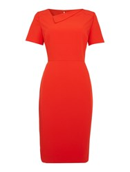 Linea Neck Detail Dress Red