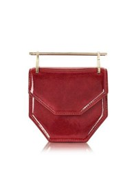 M2malletier Mini Amor Fati Lipstick Red Patent Leather Crossbody Bag