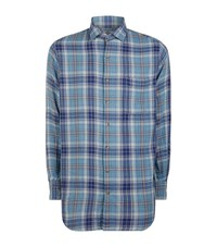 Peter Millar Siiera Brushed Plaid Shirt Male Blue
