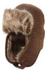 Men's Ben Sherman Trapper Hat With Faux Fur Lining Coffee