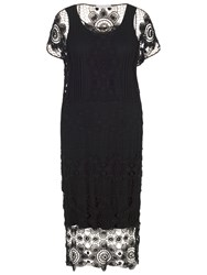 Chesca Crochet Dress Black