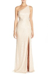 Women's Jay Godfrey Sequin One Shoulder Fit And Flare Gown